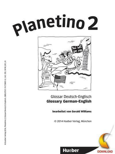 Planetino 2 Deutsch für Kinder.Deutsch als Fremdsprache / PDF-Download Glossar Deutsch-Englisch