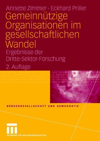 Gemeinnützige Organisationen imgesellschaftlichen Wandel Ergebnisse der Dritte-Sektor-Forschung