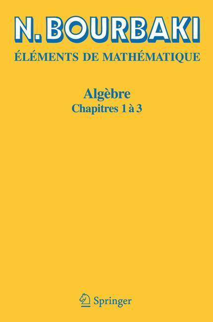 Algèbre Chapitres 1 à 3