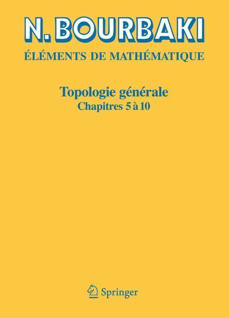 Topologie Générale Chapitres 5 à 10