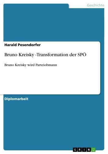 Bruno Kreisky -Transformation der SPÖ Bruno Kreisky wird Parteiobmann