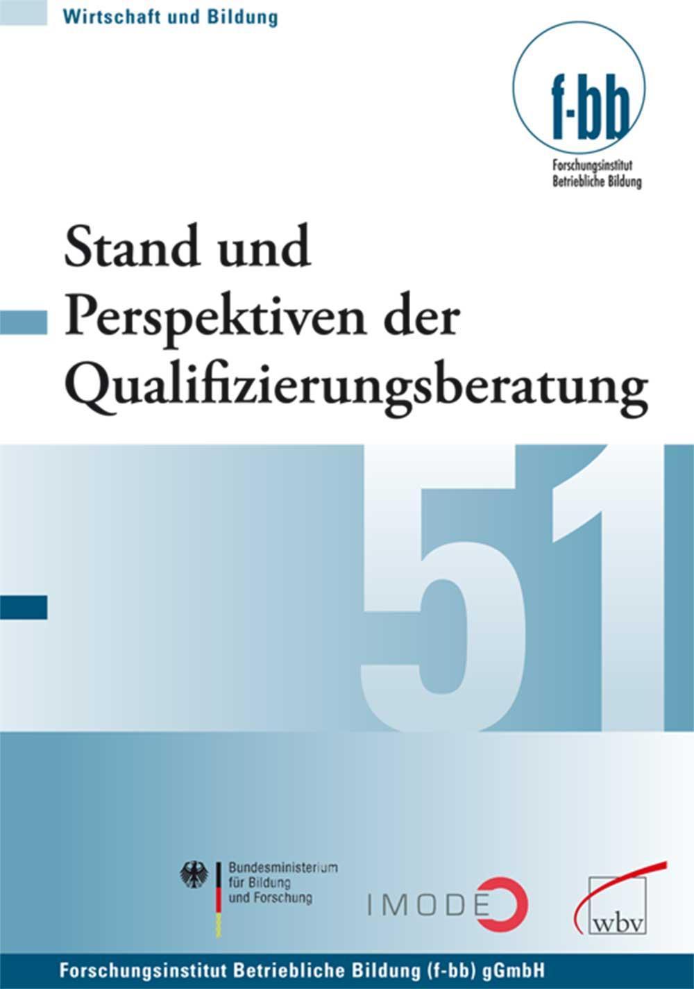 Stand und Perspektiven der Qualifizierungsberatung