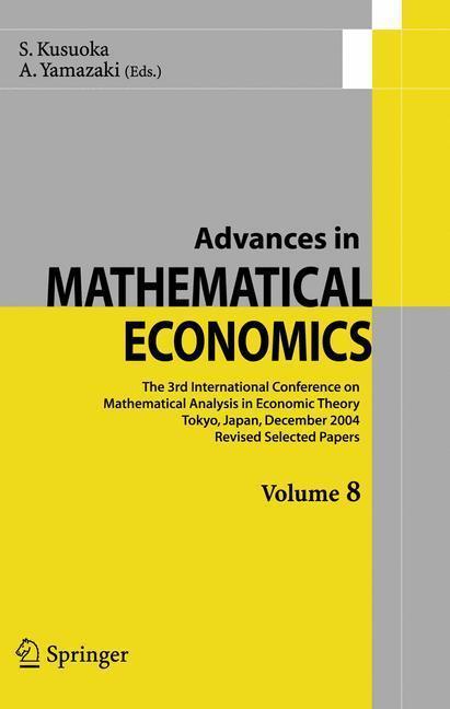 Advances in Mathematical Economics Volume 8