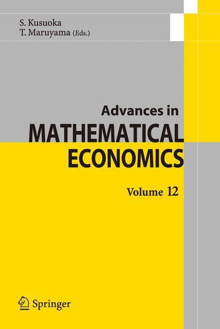 Advances in Mathematical Economics Volume12